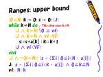 ranges upper bound
