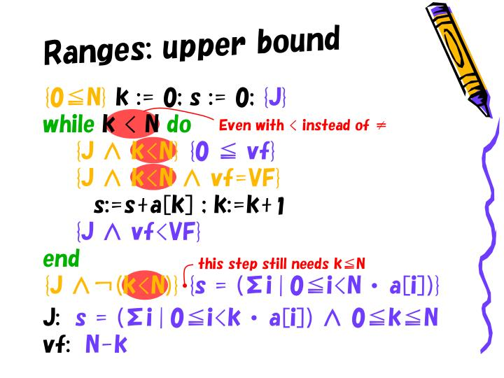 Ranges: upper bound