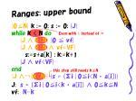 ranges upper bound1