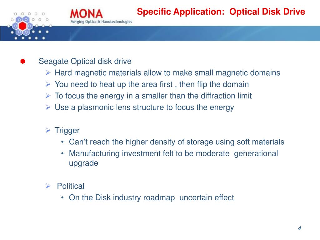 Specific Application:  Optical Disk Drive