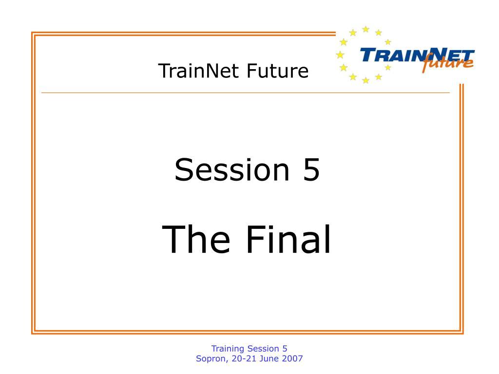 TrainNet Future