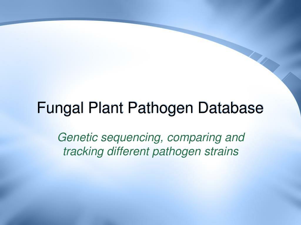 Fungal Plant Pathogen Database