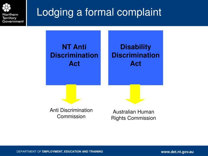 NT Anti Discrimination Act