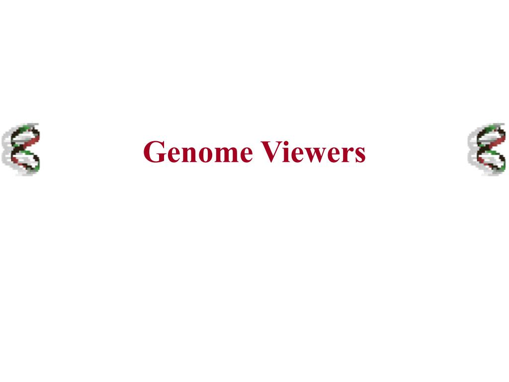 Genome Viewers