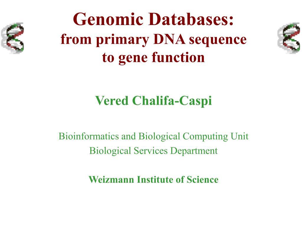 Genomic Databases: