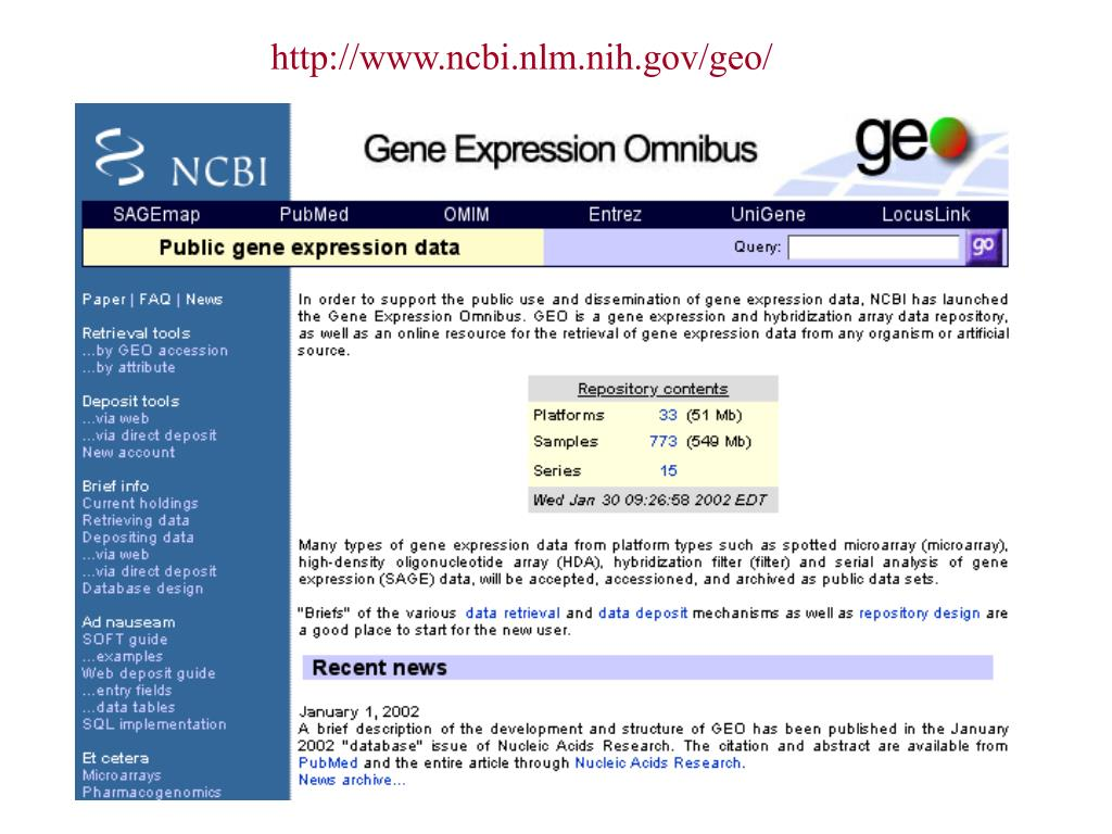 http://www.ncbi.nlm.nih.gov/geo/