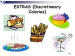 extras discretionary calories