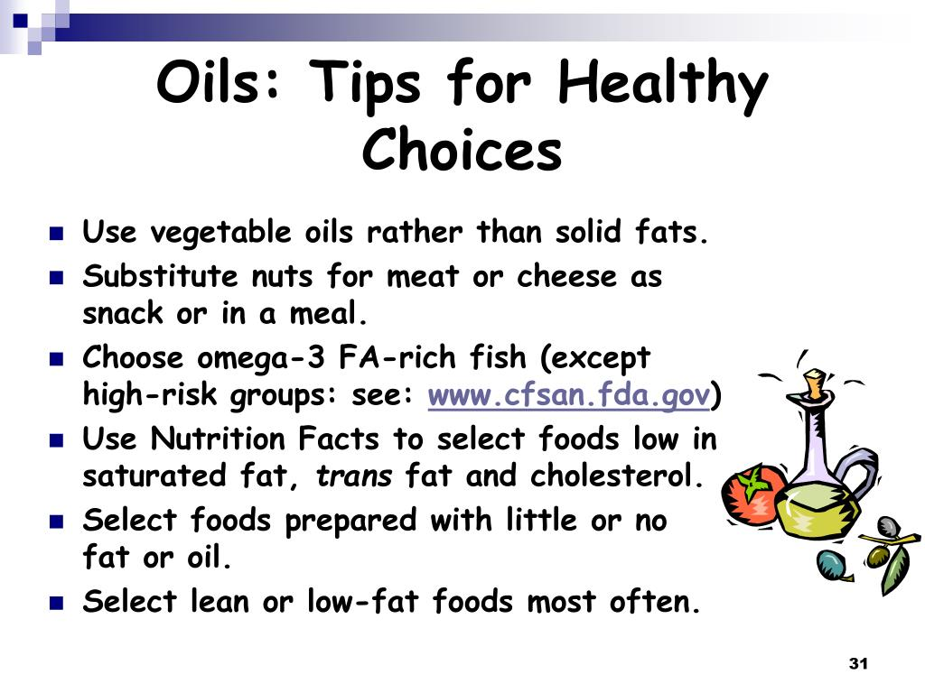 Oils: Tips for Healthy Choices