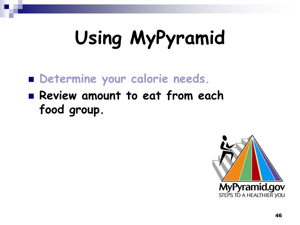 Using MyPyramid