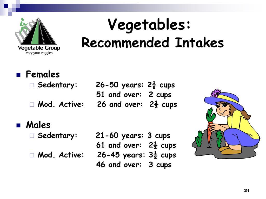 Vegetables: