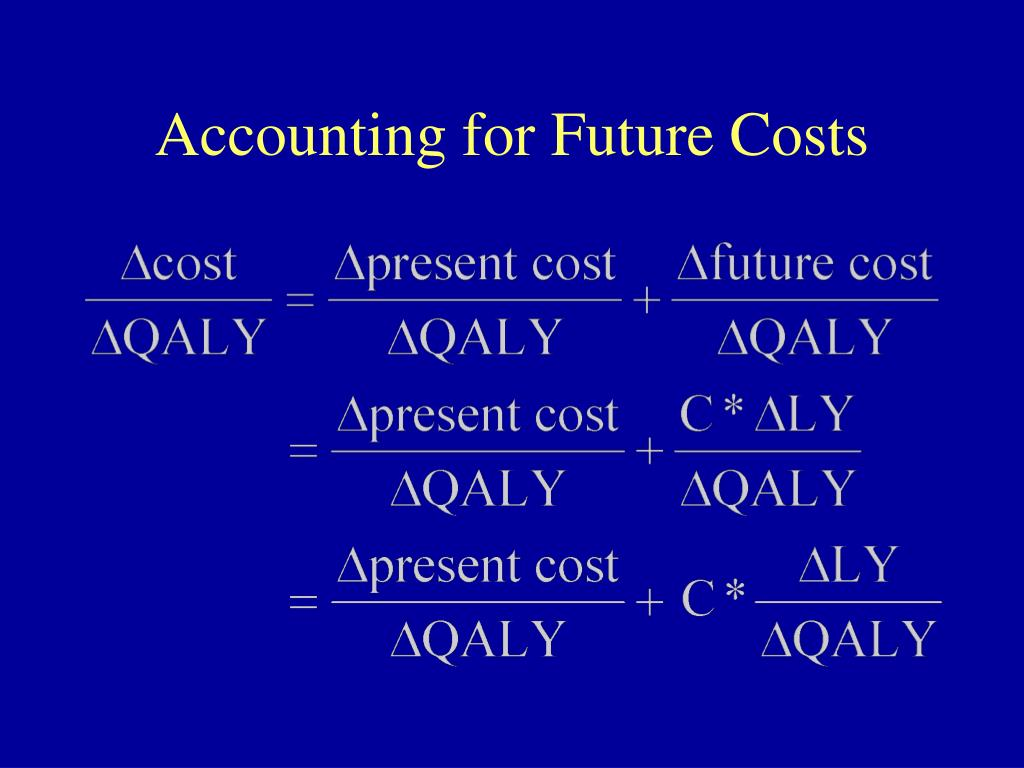 Accounting for Future Costs