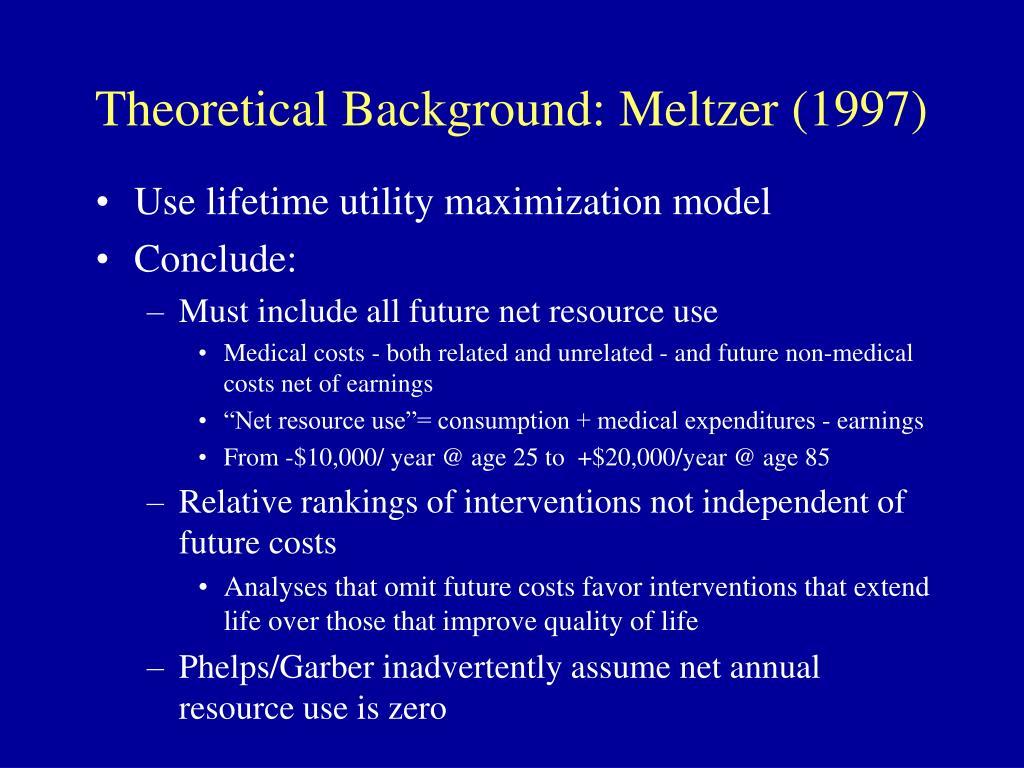 Theoretical Background: Meltzer (1997)