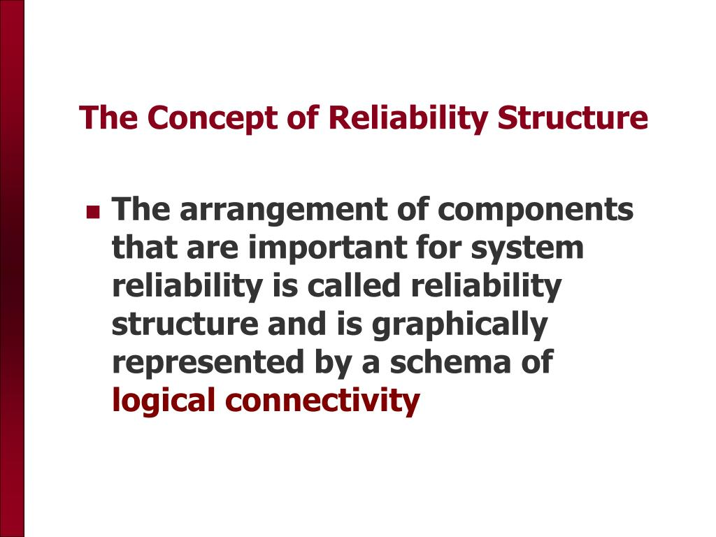 The Concept of Reliability Structure