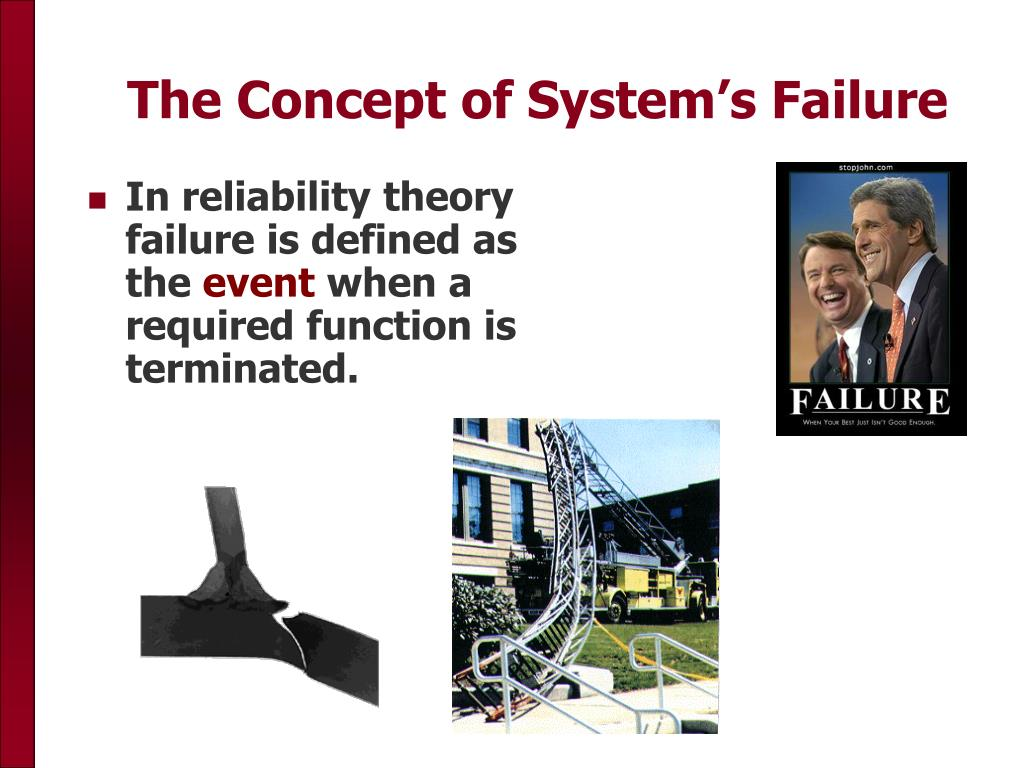The Concept of System's Failure