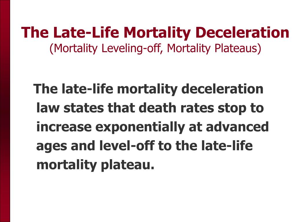 The Late-Life Mortality Deceleration