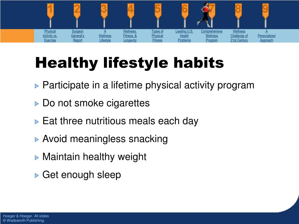 Participate in a lifetime physical activity program