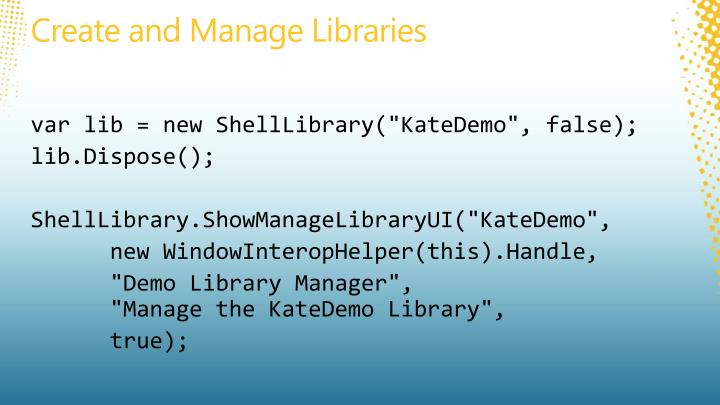 Create and Manage Libraries