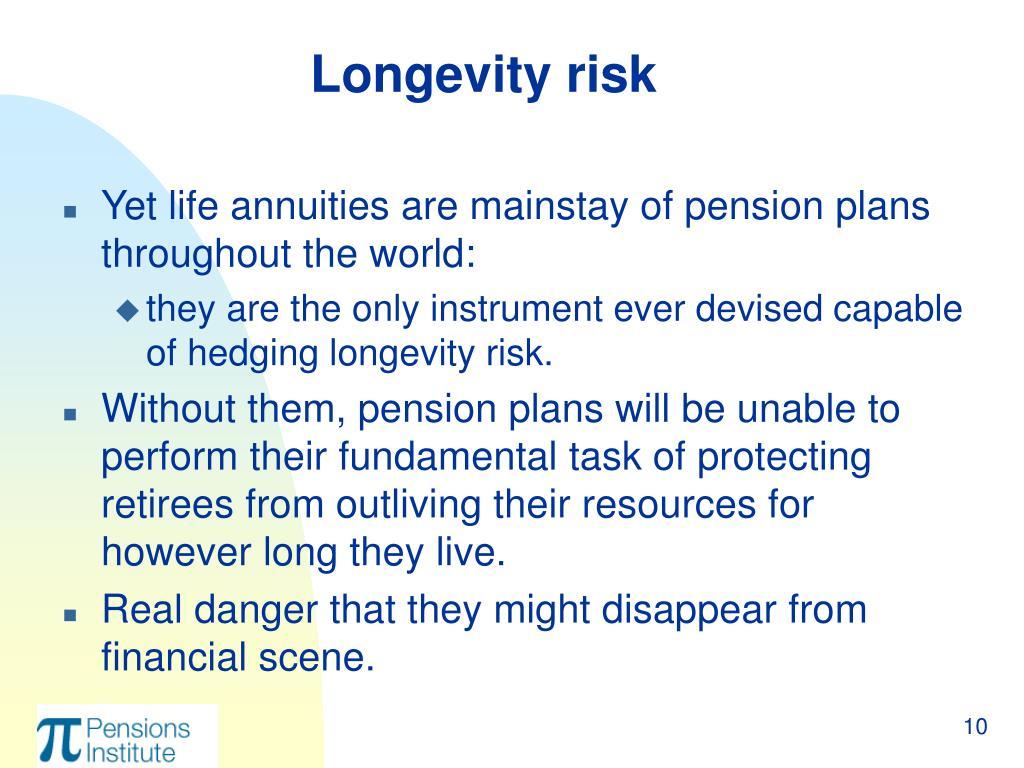 Longevity risk