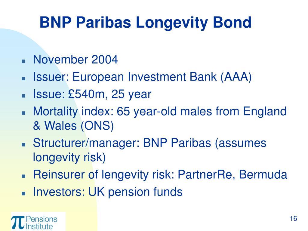 BNP Paribas Longevity Bond