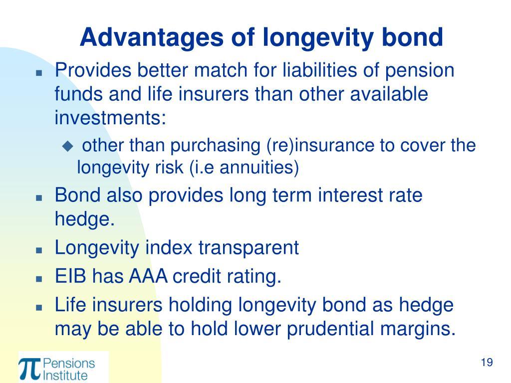 Advantages of longevity bond