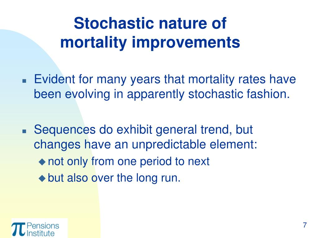 Stochastic nature of mortality improvements
