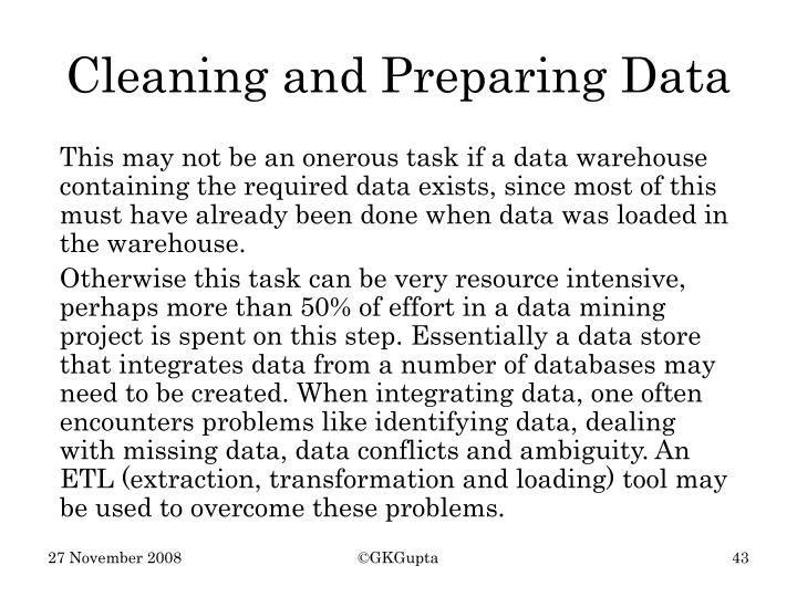 Cleaning and Preparing Data