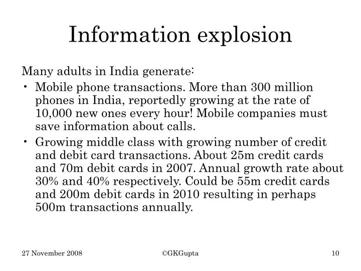 Many adults in India generate: