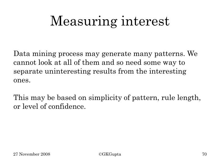 Measuring interest