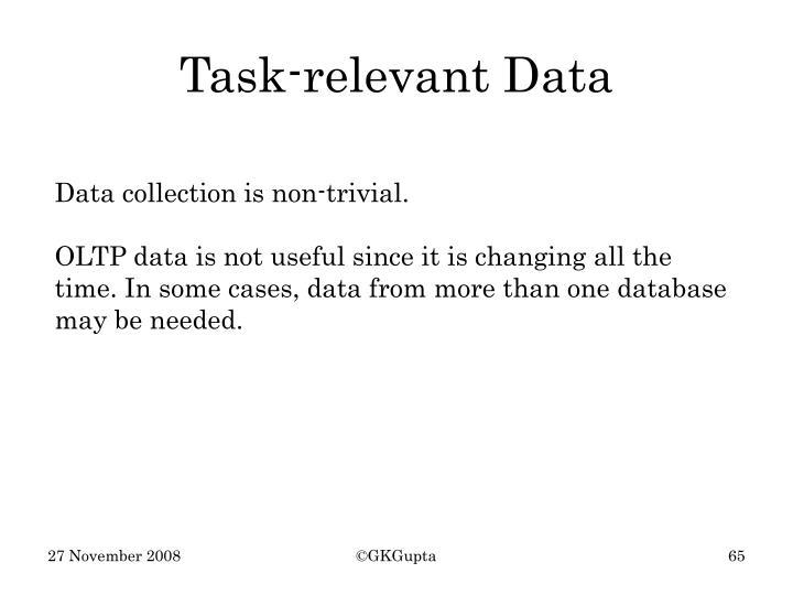 Task-relevant Data