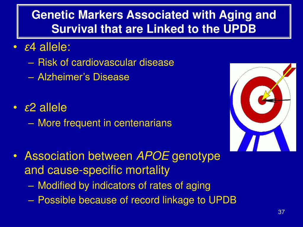 Genetic Markers Associated with Aging and Survival that are Linked to the UPDB