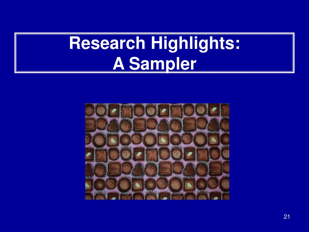 Research Highlights: