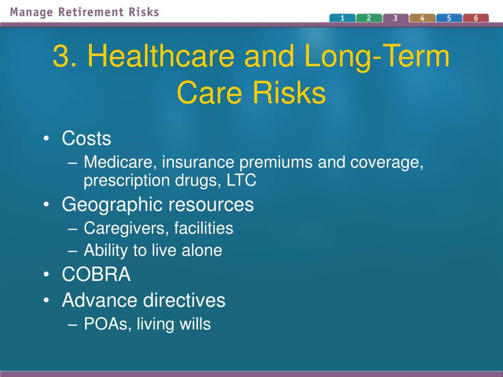 3. Healthcare and Long-Term Care Risks