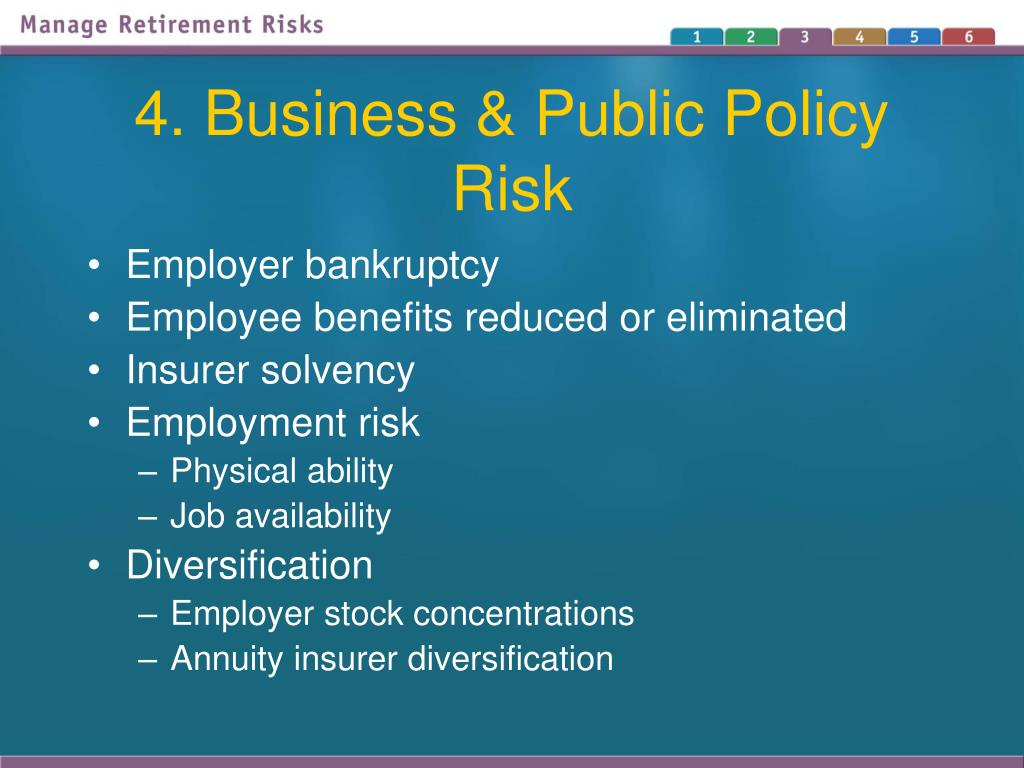 4. Business & Public Policy Risk