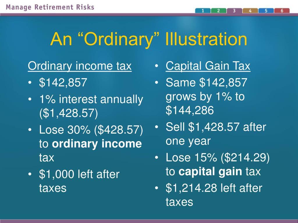 Ordinary income tax