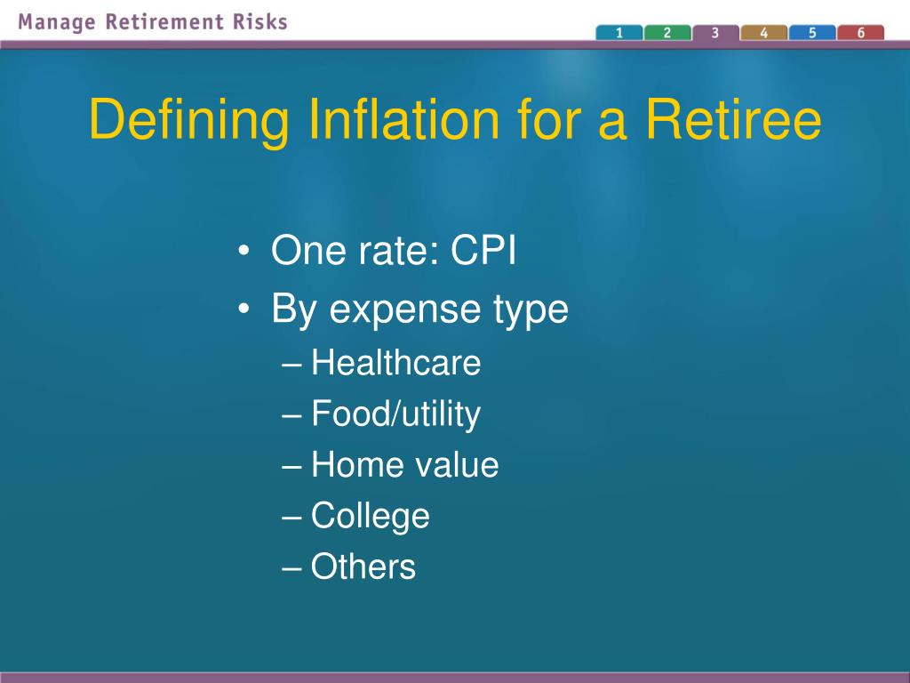 Defining Inflation for a Retiree