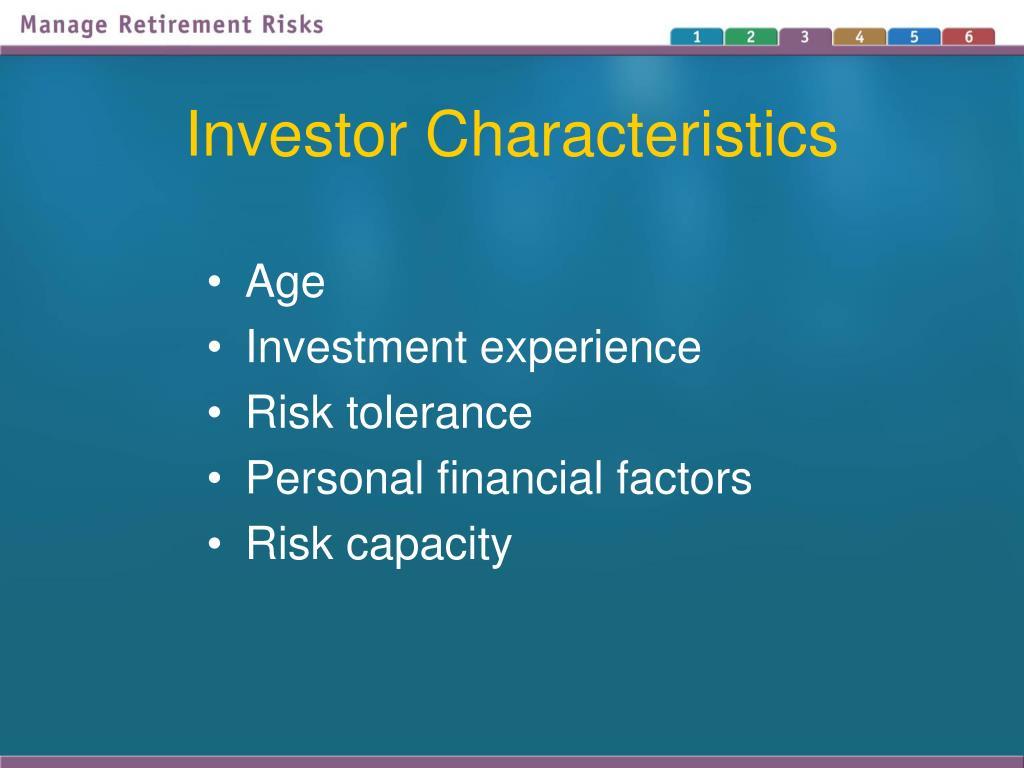 Investor Characteristics