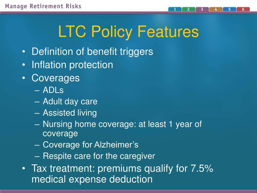 LTC Policy Features