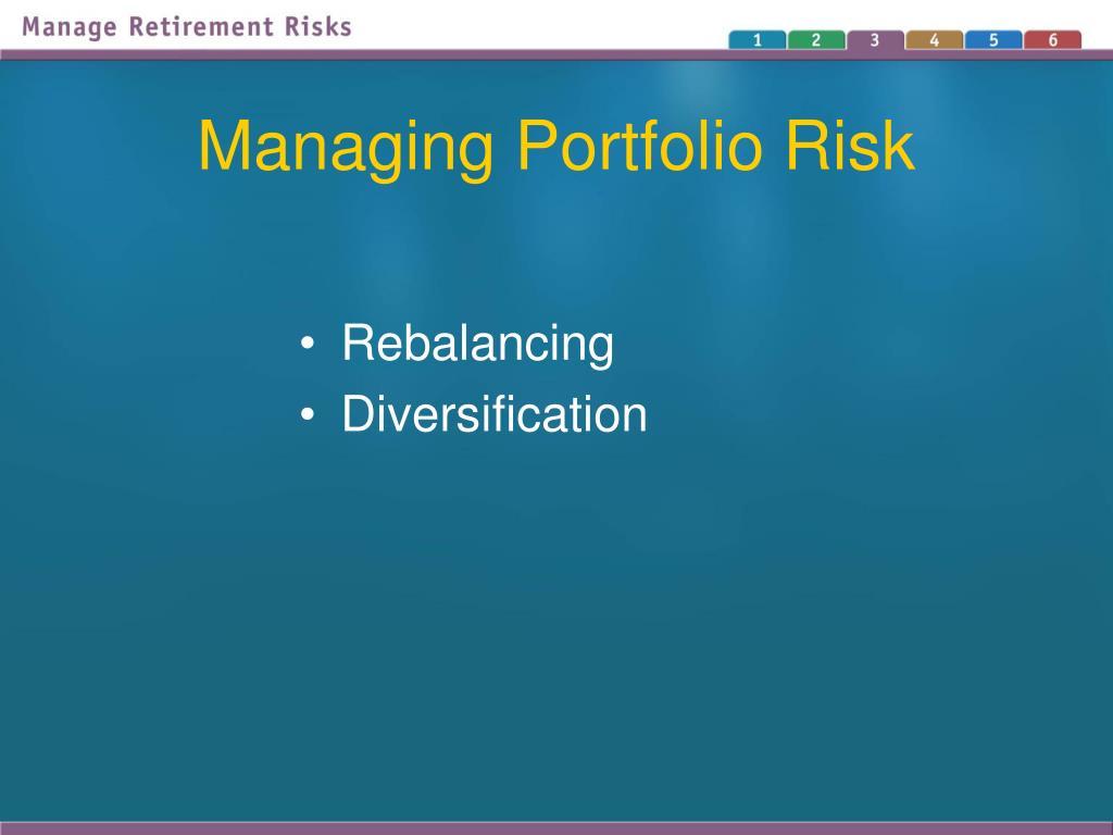 Managing Portfolio Risk