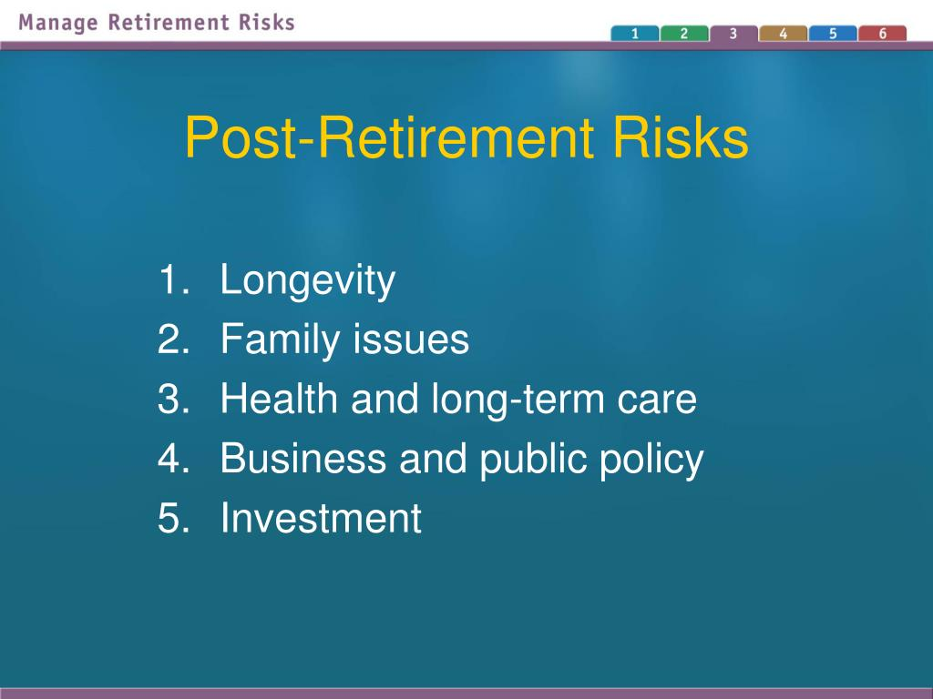 Post-Retirement Risks