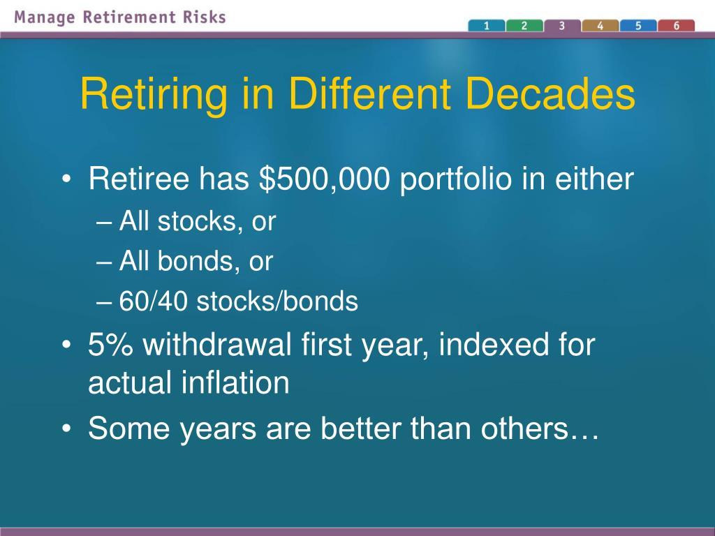 Retiring in Different Decades