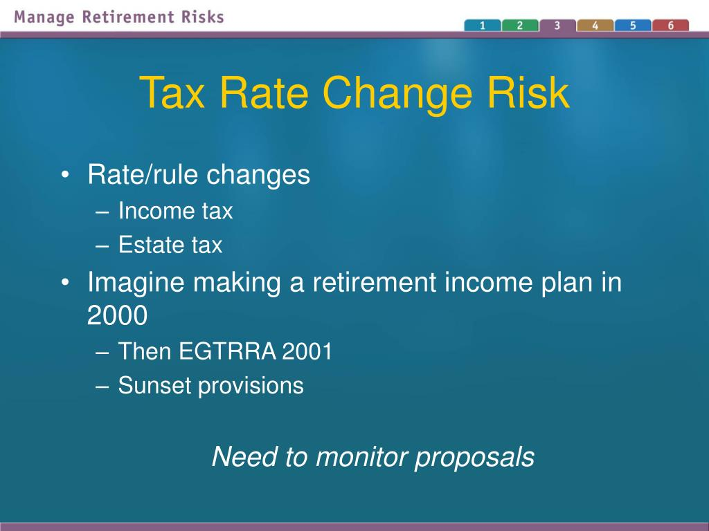 Tax Rate Change Risk