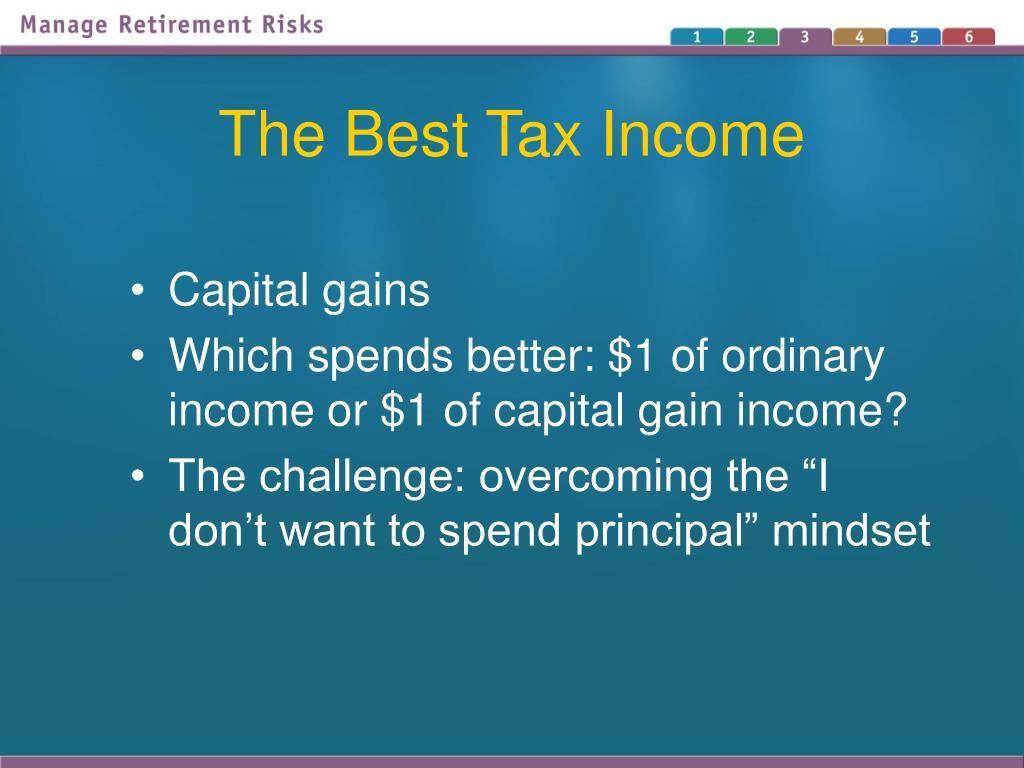 The Best Tax Income