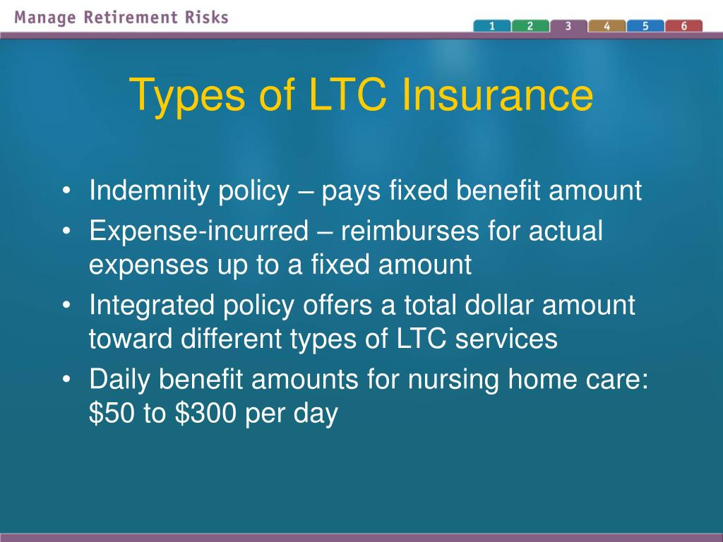 Types of LTC Insurance