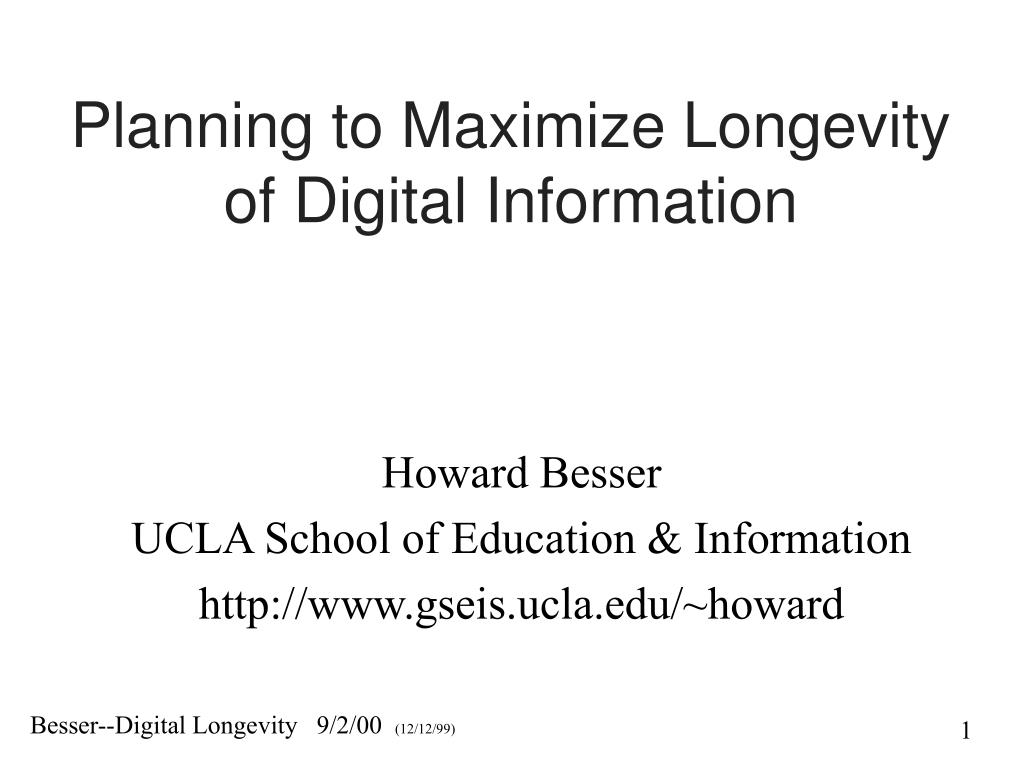 Planning to Maximize Longevity of Digital Information