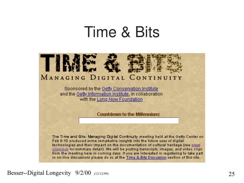 Time & Bits