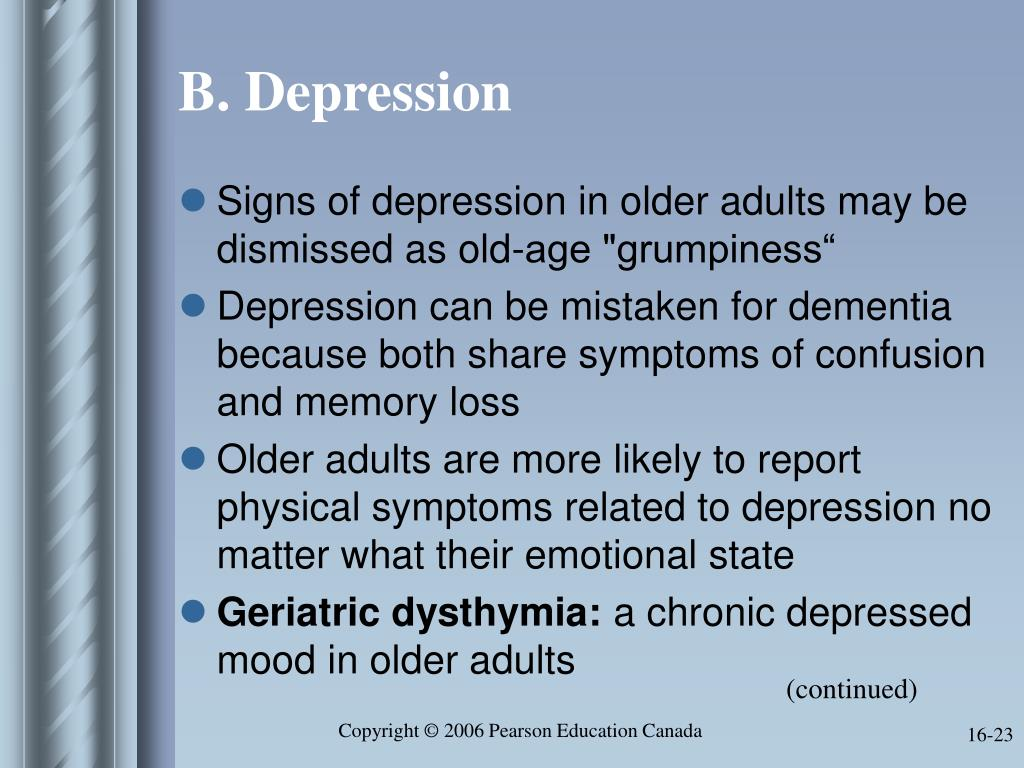 B. Depression