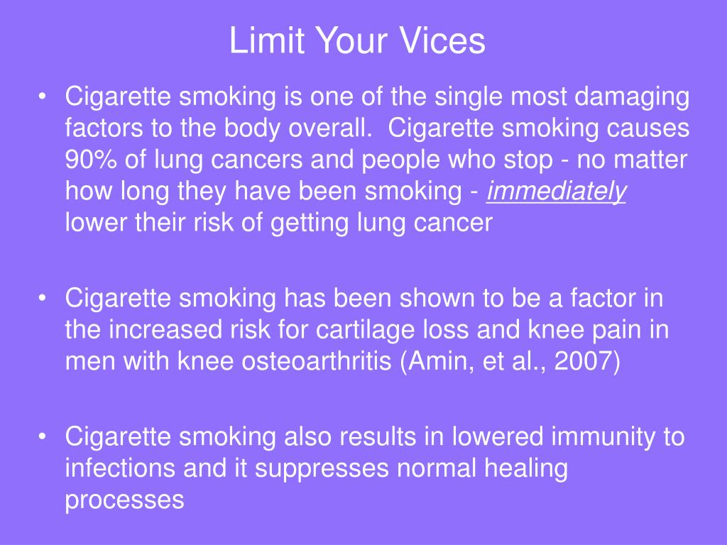 Limit Your Vices