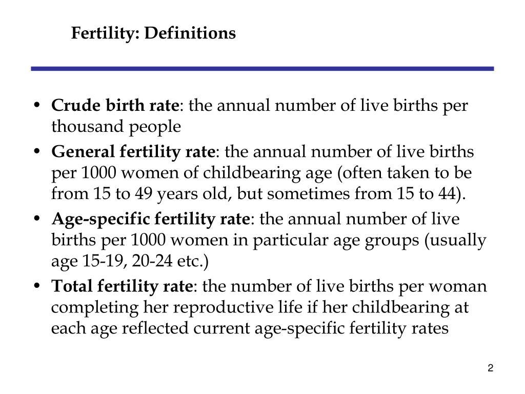 Fertility: Definitions