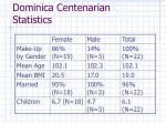 dominica centenarian statistics