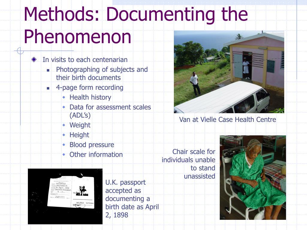 Methods: Documenting the Phenomenon